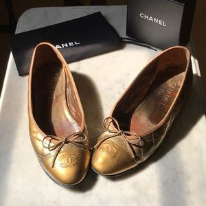 Chanel Classic Ballet Flats Size 38.5
